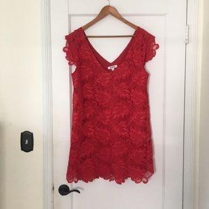 BB Dakota Red Lace Jacqueline Dress Medium